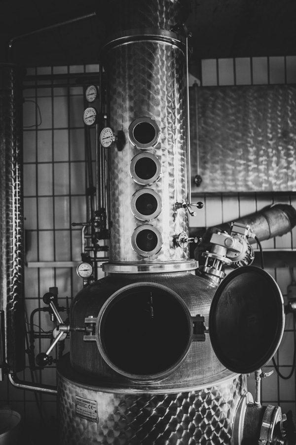Destillieranlage des The Hanging Man London Dry Gin bei Würzburg