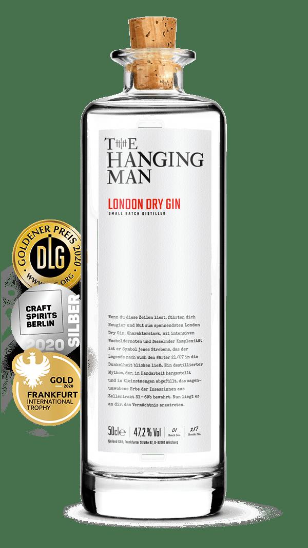 Ausgezeichnete Glasflasche des spannendsten London Dry Gin aus Würzburg